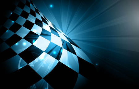 fire car: Racing square background, vector abstraction in racing car track