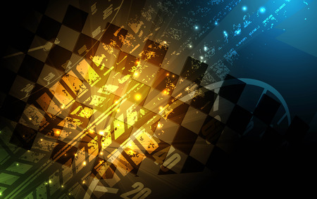 Racing square background, vector abstraction in racing car track Vetores