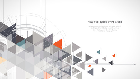デザイン テンプレートにカラフルな抽象的な幾何学的な背景  イラスト・ベクター素材