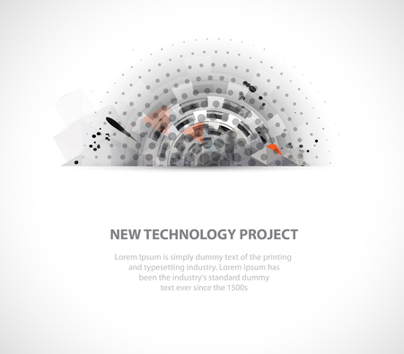 tecnology: Abstract digital web site header. Banner tecnology background