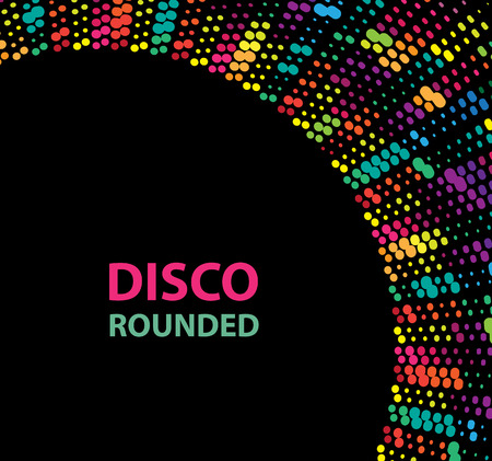 disco lights: Round color disco lights circle abstract background