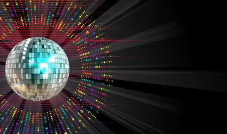 luces de discoteca de plata redonda círculo resumen de antecedentes Ilustración de vector