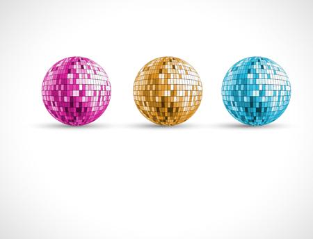 Ronde kleurrijke discolichten cirkel achtergrond