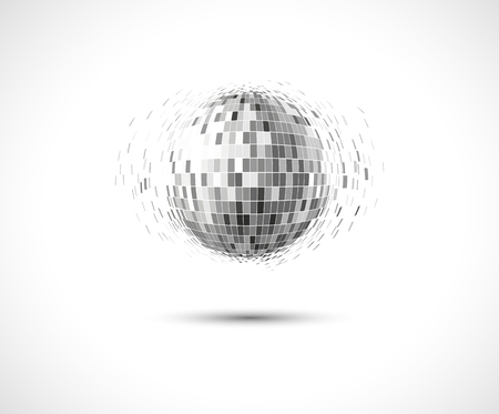 silver circle: Round silver disco lights circle abstract background Illustration