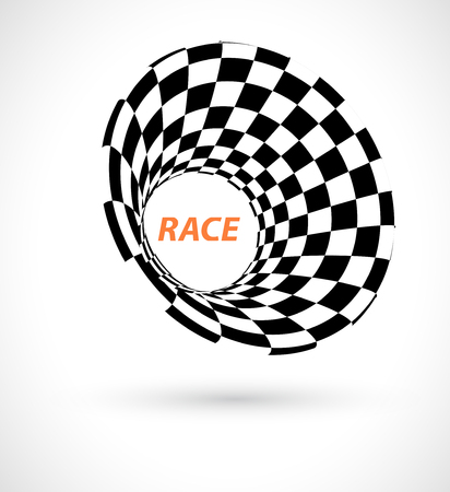 prix: Racing square background, vector abstraction in racing car track
