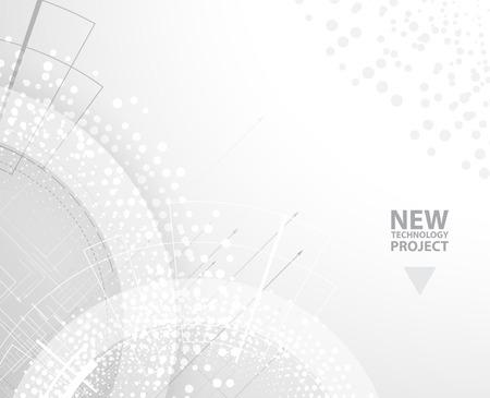 Résumé de fond de vecteur. Le style futuriste technologie. Elegant background pour les présentations d'affaires de technologie.