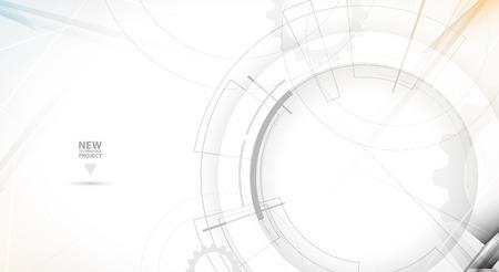 Résumé de fond de vecteur. le style futuriste de la technologie. Elegant background pour les présentations d'affaires de pointe. Vecteurs