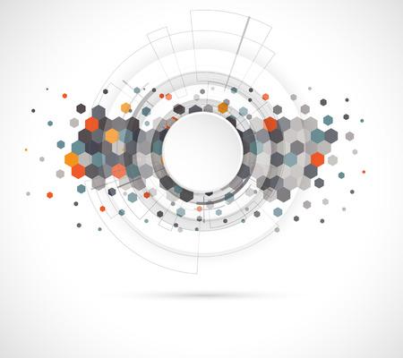 Abstract digital web site header. Banner technology background Stock Illustratie