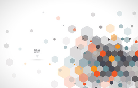 Abstract digital web site header. Banner technology background Ilustração