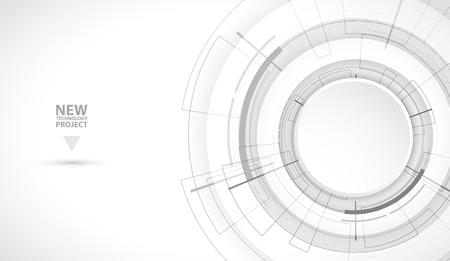 Abstract digital web site header. Banner technology background Vettoriali