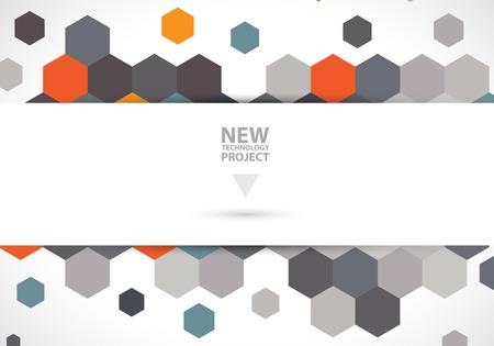 Abstract digital web site header. Banner technology background Illustration