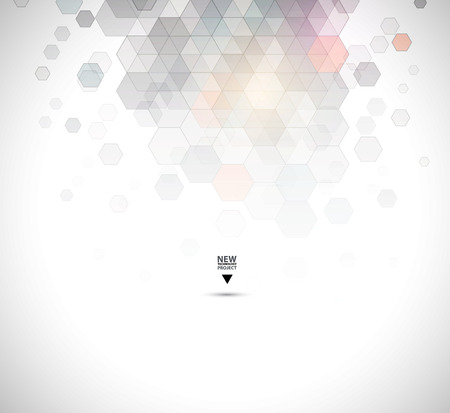 future business: New future technology concept abstract background for business solution Illustration