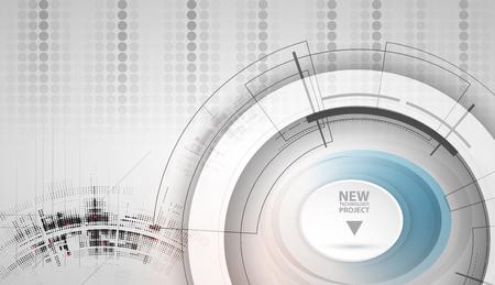 Nuovo concetto di tecnologia futura astratto sfondo per la soluzione di business Vettoriali