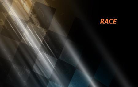 正方形の背景、ピスト車の抽象化をレース  イラスト・ベクター素材