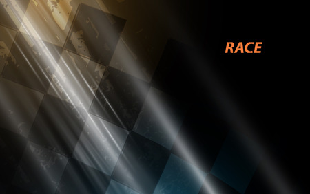 Racing square background, abstraction in racing car track
