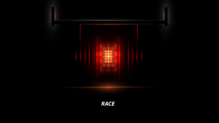 traction: Racing car backlight. racing spotlight. Abstract dark background. Race Track