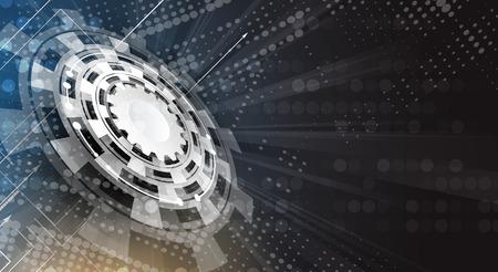 Future abstrait matrice numérique technologie de réseau concept background
