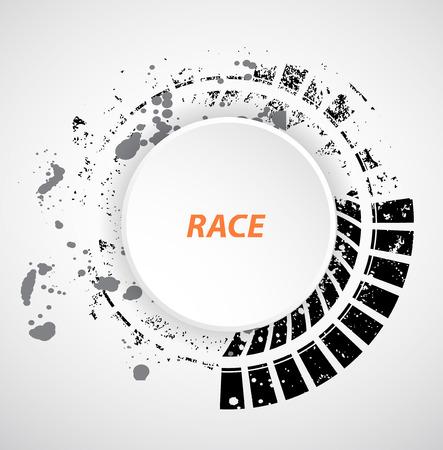 Racing fond carré, vecteur abstraction piste de la voiture de course Vecteurs