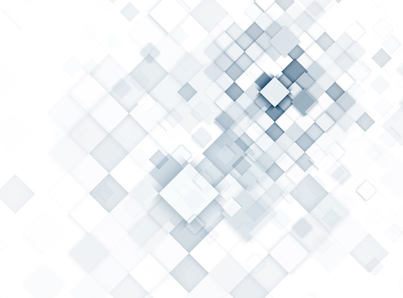 Light blue abstract geometric cube background for technology presentation