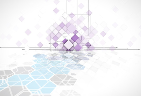 web solution: violet abstract square geometric background for web solution design template
