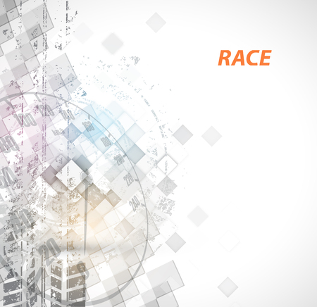 background abstraction: Racing square background, vector abstraction in racing car track