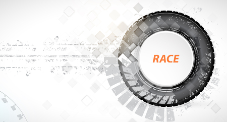 auto racing: Racing square background, vector abstraction in racing car track
