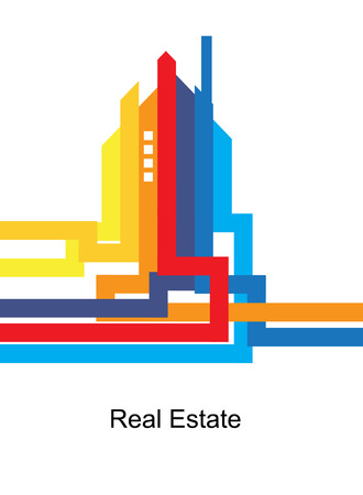 circuit sale: abstract real estate city circuit mirror business background Illustration