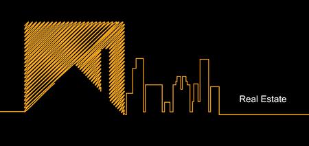 città astratta immobiliare specchio circuito sfondo di affari