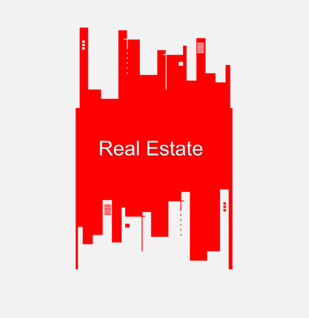 real estate house: real estate city built house business background