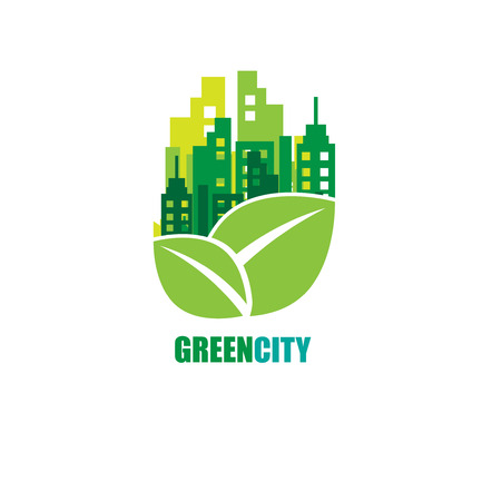 green city: Green city. Ecology concept. Save life and environment background