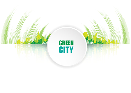 green eco: Green city. Ecology concept. Save life and environment background