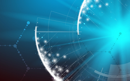 dna から医療・技術背景。未来的な分子構造のプレゼンテーション。ビジネス ソリューション