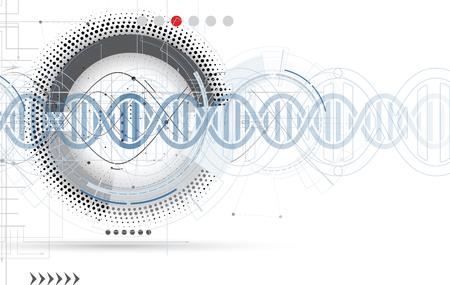 cromosoma: ADN abstracta icono y colección de elementos. Interfaz de la tecnología futurista. El formato del vector Vectores