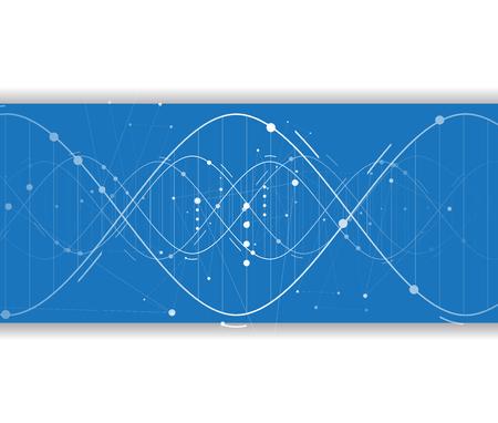 dna i tła medycznych i technologii. futurystyczny prezentacja struktury cząsteczki. dla rozwiązań biznesowych