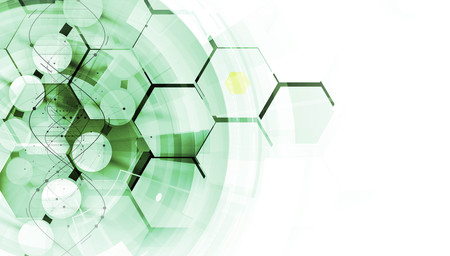 dna und medizinischen und technologischen Hintergrund. futuristisch Molekülstruktur Präsentation. für Business-Lösung Vektorgrafik