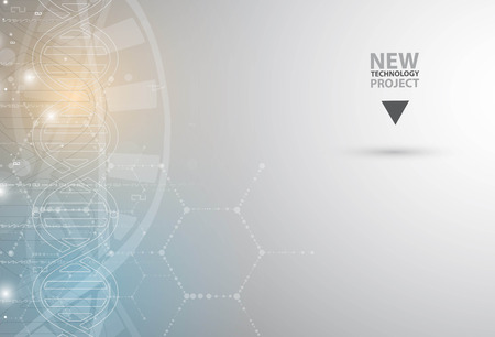 molecula: ADN y antecedentes médicos y la tecnología. futurista presentación estructura de la molécula. para la solución de negocio