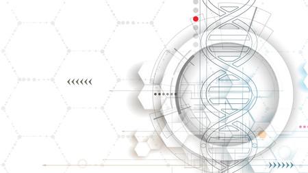 ADN y antecedentes médicos y la tecnología. futurista presentación estructura de la molécula. para la solución de negocio