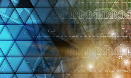 medical technology: dna and medical and technology background. futuristic molecule structure presentation. for business solution