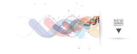 DNA 및 의료 및 기술 배경. 미래의 분자 구조 프레 젠 테이션. 비즈니스 솔루션