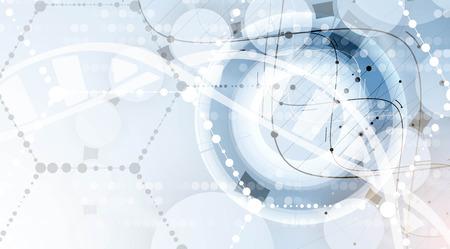 ADN y antecedentes médicos y la tecnología. futurista presentación estructura de la molécula. para la solución de negocio Foto de archivo - 61900436