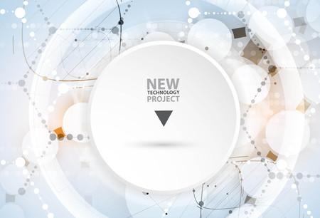 ADN y antecedentes médicos y la tecnología. futurista presentación estructura de la molécula. para la solución de negocio Foto de archivo - 61900438
