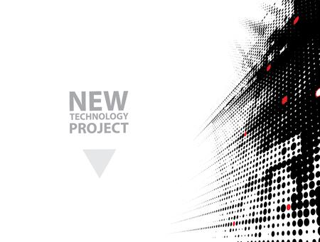 abstract futuristic fade computer technology business background Vektoros illusztráció