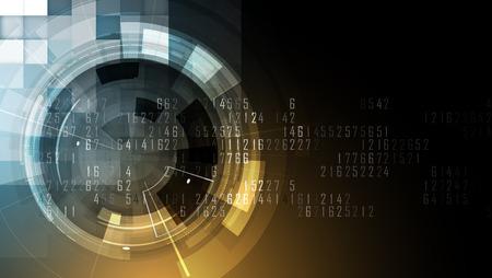 抽象的な未来的なフェード コンピューター技術ビジネスの背景 写真素材 - 64973238