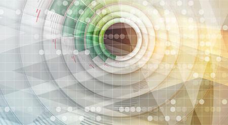shallow: Digital technology world. Business virtual concept