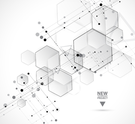 consistency: Abstract hexagon background. Technology poligonal design. Digital futuristic minimalism. Vector