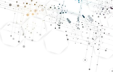esagono sfondo astratto. La tecnologia di design poligonale. minimalismo futuristico digitale. Vettore