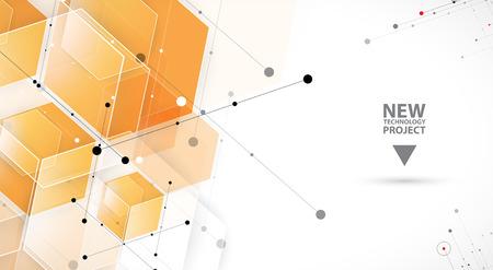 energy grid: Abstract hexagon background. Technology polygonal design. Digital futuristic minimalism. Vector Illustration