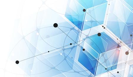 algorithm: Abstract hexagon background. Technology polygonal design. Digital futuristic minimalism. Vector Illustration