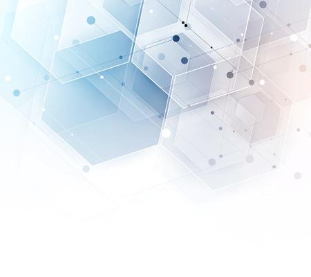 六角形の背景を抽象化します。技術の多角形デザイン。デジタルの未来的なミニマリズム。ベクトル  イラスト・ベクター素材
