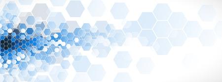 Abstract hexagon background. Technology polygonal design. Digital futuristic minimalism. Vector Stock Illustratie
